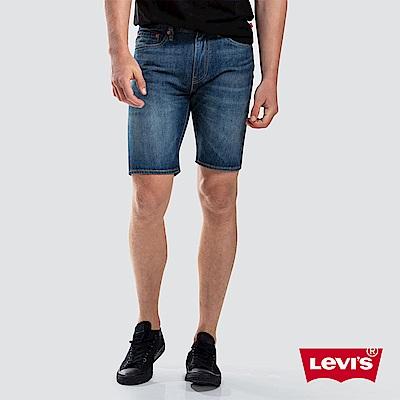 Levis男款505寬鬆直筒牛仔短褲