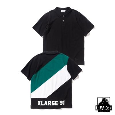XLARGE SS PANELED POLOSHIRT POLO衫-黑