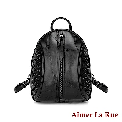 Aimer La Rue 後背包 羊皮閨密出遊系列(黑色)