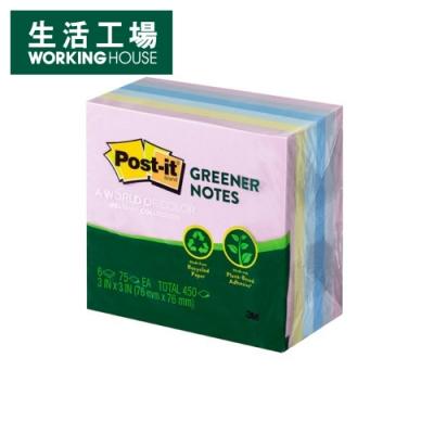 【生活工場】*Post-it5416-RP-AP利貼可再貼環保便條紙磚