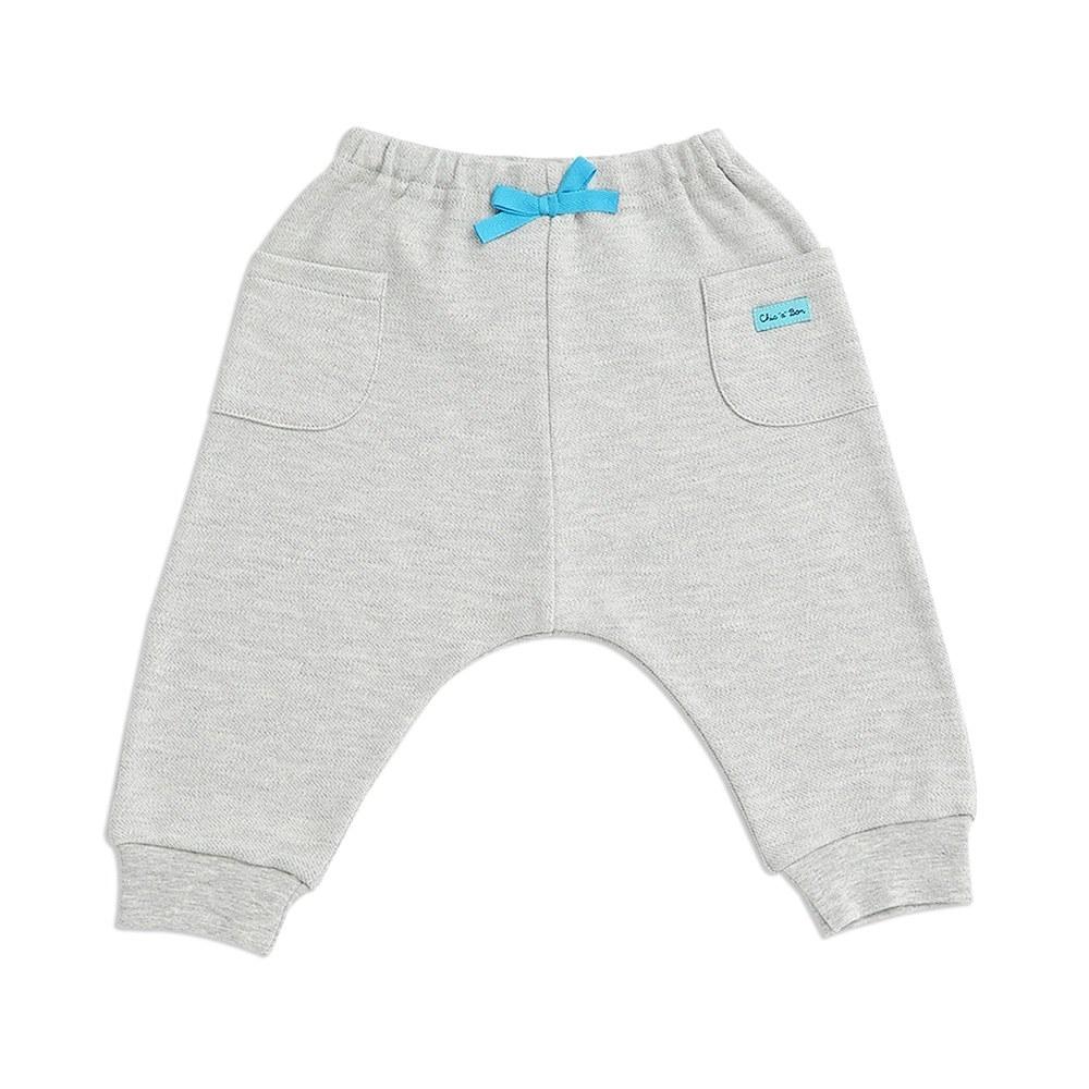 奇哥 摺紙趣嬰兒長褲-三段天絲棉布(2色選擇)