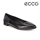 ECCO SHAPE 優雅尖頭撞色後跟淺口平底鞋 女-黑