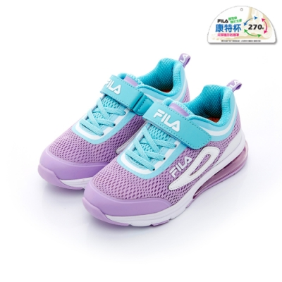 FILA KIDS 大童半氣墊慢跑鞋-紫藍 3-J809T-931