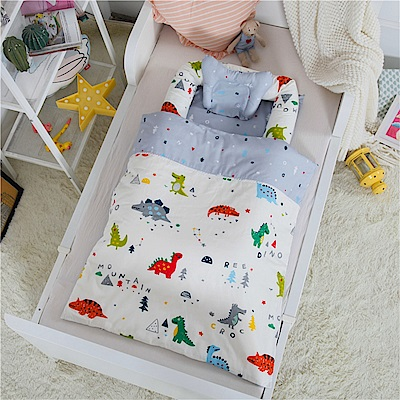 Kori Deer 可莉鹿 貢緞紗純棉多功能床中床-小恐龍有被子
