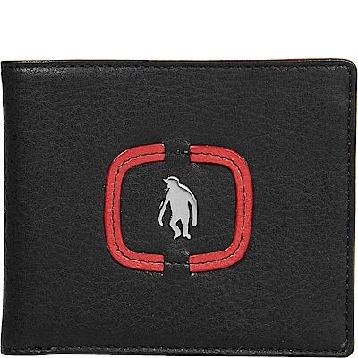 OBHOLIC 黑色義大利牛皮短夾錢包皮夾 OBMWM09203-52-F