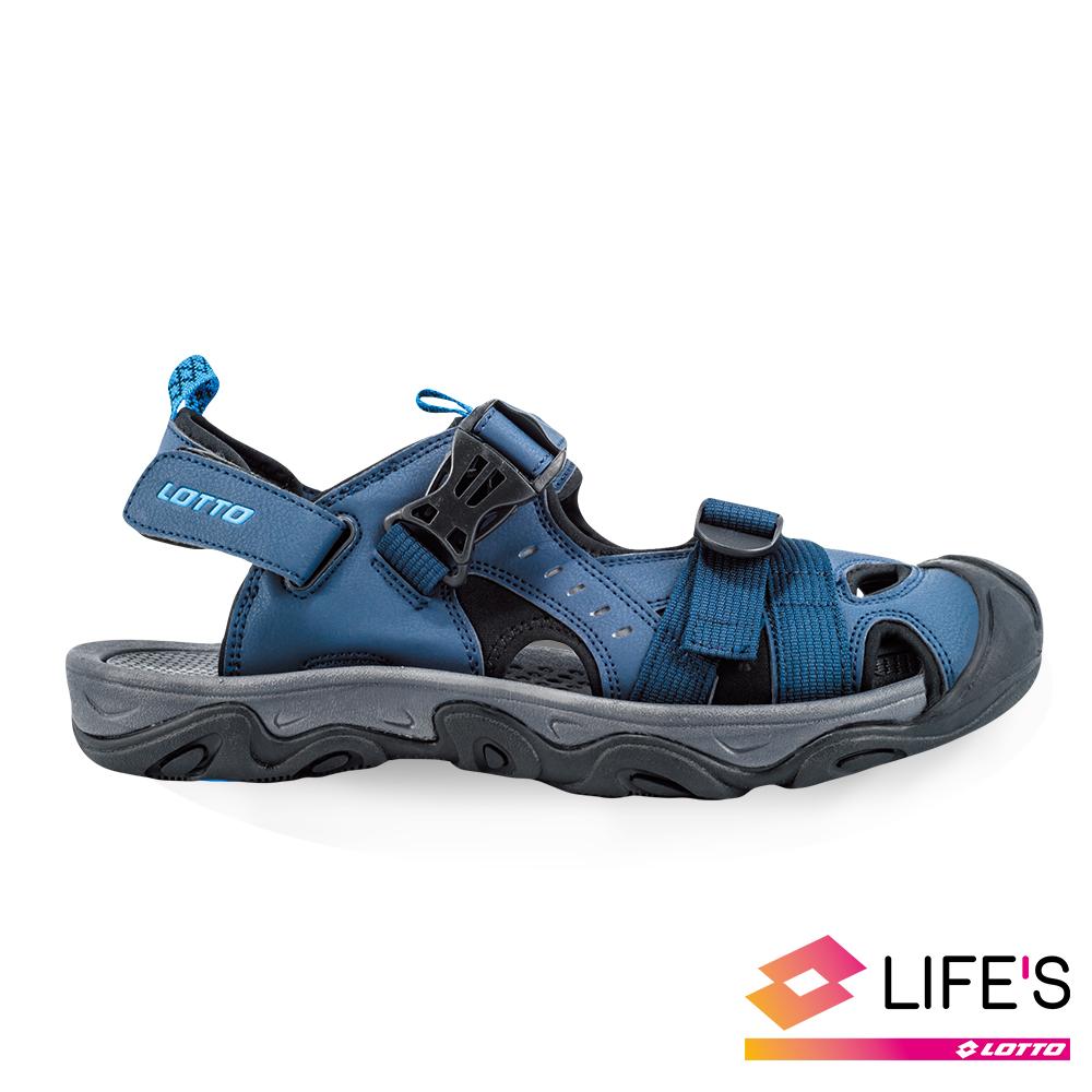 LOTTO 義大利 男 護趾戶外涼鞋 (丈青)