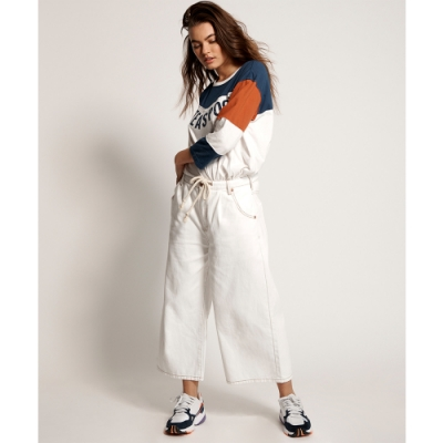 ONETEASPOON BOYS HIGH WAIST WIDE LEG 牛仔褲-白 (女)