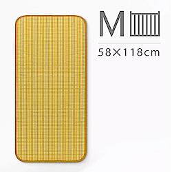 媽咪小站-Mammy Shop 3D天然纖維柔藤墊/M(中床專用/58x118cm)