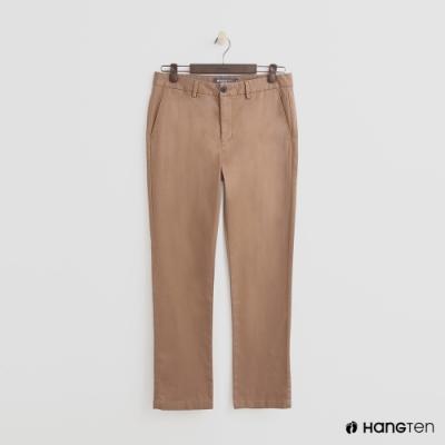 Hang Ten - 男裝 - 簡約純色休閒西裝長褲 - 咖啡