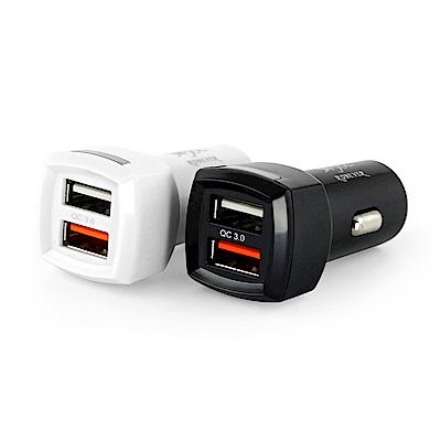 RONEVER PE001 QC3.0高速車用充電器-白