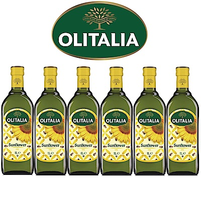 Olitalia奧利塔葵花油禮盒組(1000mlx6瓶)