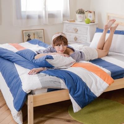 BUHO 天然嚴選純棉雙人加大三件式床包組(時流樂動)