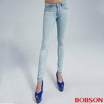 BOBSON 女款刷漂色緊身褲