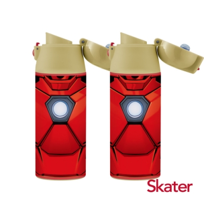 Skater 直飲2入-不鏽鋼保溫瓶(360ml)鋼鐵人2支