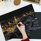 【歐達家居】大型城市風景金色手刮畫(紐約/拉斯維加斯/ 香港/倫敦/巴黎)