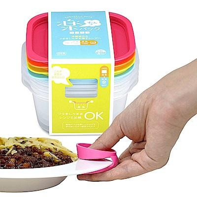 日本INOMATA四色微波保鮮盒630ml+隔熱取盤夾