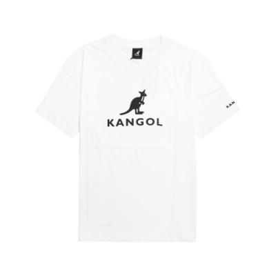 Kangol T恤 Casual Tee 運動休閒 男款 袋鼠 圓領 棉質 基本款 短袖 白 黑 6021100100