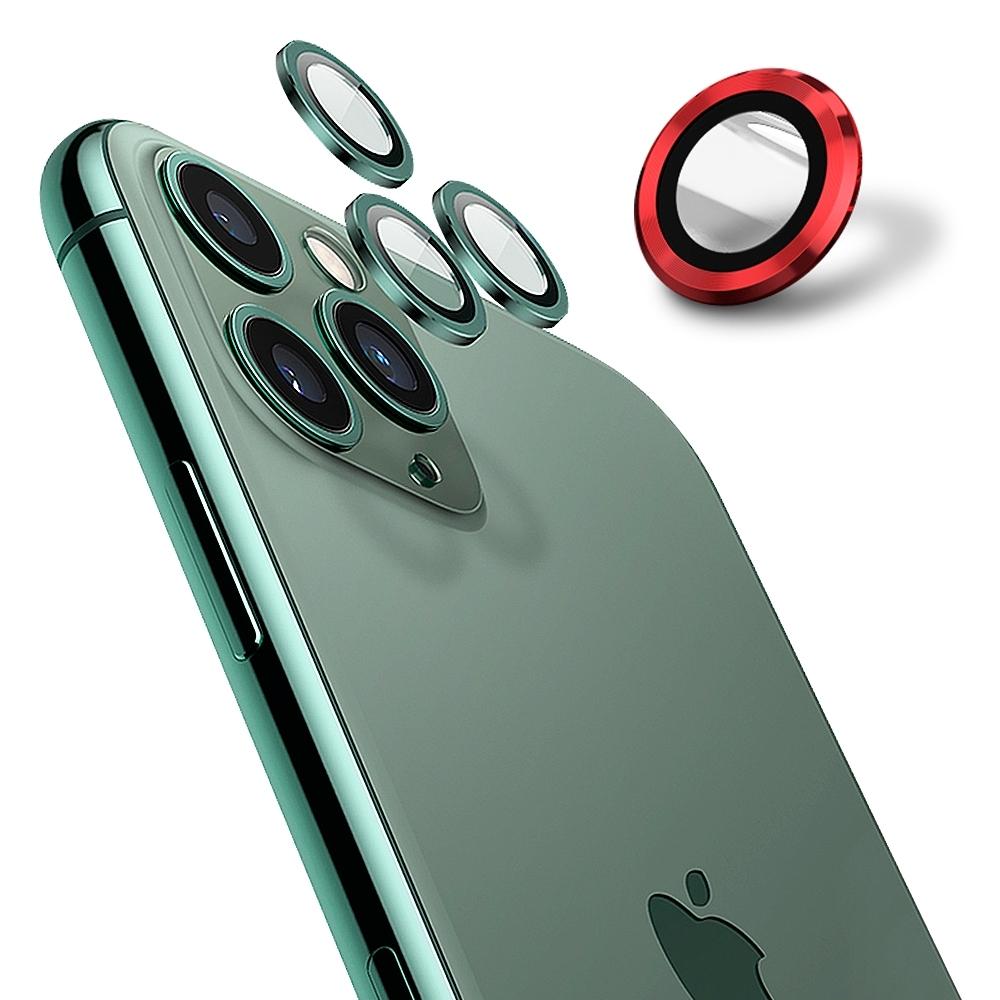 【Ayss】康寧鏡頭保護貼 iPhone 12 mini / iPhone 12/9H硬度/金屬邊框/鏡頭全包覆式/AR光學玻璃/疏水疏油-2入-紅