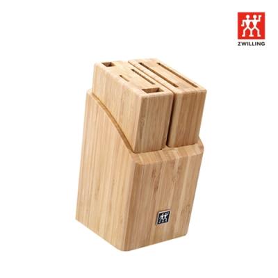 德國雙人 ZWILLING 竹製可拆卸插刀架