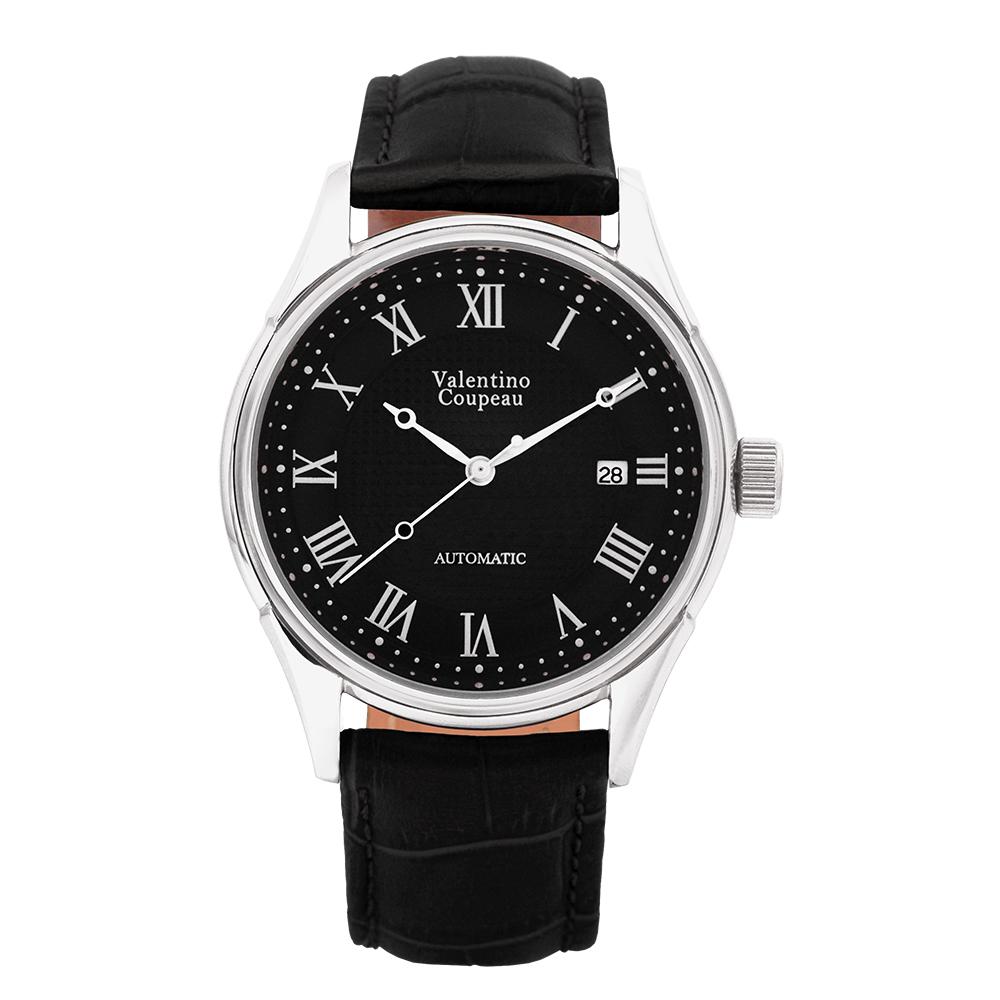 Valentino Coupeau 范倫鐵諾 古柏 經典羅馬機械錶(白殼/黑面/黑皮)