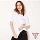 GUESS-女裝-純色背部經典雙LOGO短T,T恤-白 原價1290 product thumbnail 1