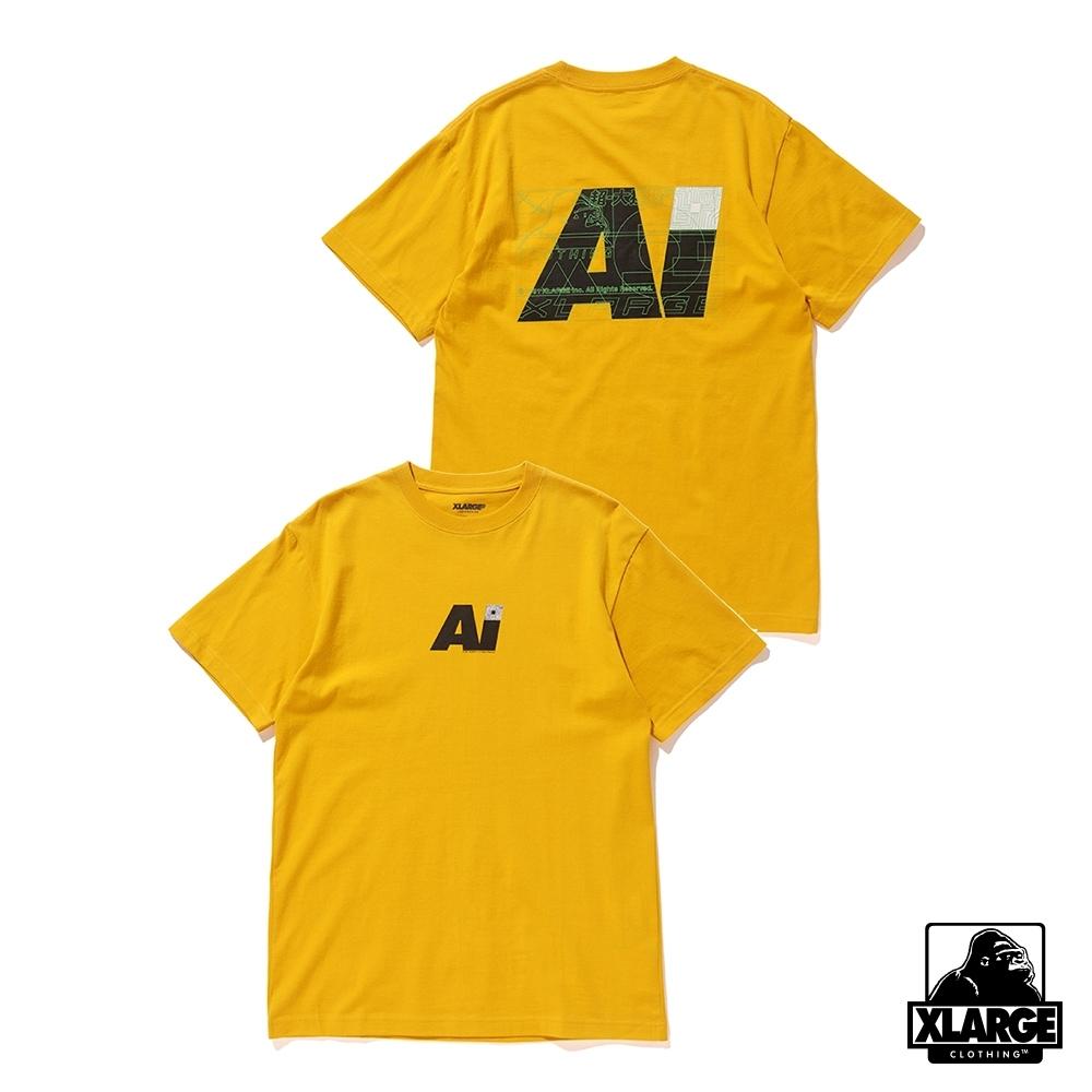 XLARGE S/S TEE AI短袖T恤-黃