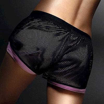 黛安芬-Triaction Cardio機能好動M-EL運動短褲 時尚黑