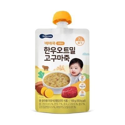 韓國【BEBECOOK】寶膳 嬰幼兒韓牛地瓜燕麥粥(100g)