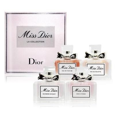 *Dior 迪奧 Miss Dior 小香禮盒 5mlX4 [淡香水+淡香精+花樣迪奧+玫瑰漫舞]-國際航空版