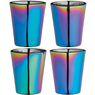 《KitchenCraft》玻璃烈酒杯4入(炫彩50ml)