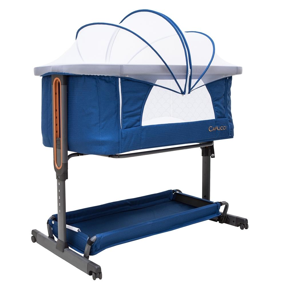 (買就送10%超贈點)美國 CAPUCCI 卡普奇3in1嬰兒床邊床 附贈蚊帳 (2色可選) product image 1