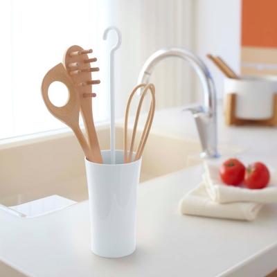 【YAMAZAKI】現代鄉村可掛式廚具瀝水籃-白★餐具收納/廚房用品/瀝水架