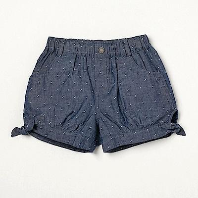 PIPPY平織點點蝴蝶結短褲藍
