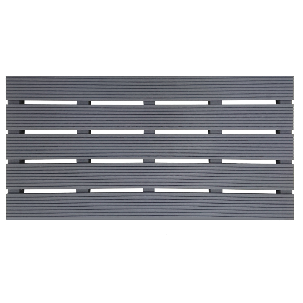【貝力地板】造景塑木踏板 (灰 - 45 x 90cm)