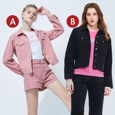 [時時樂限定]BRAPPERS 女款 中寬版條絨外套(多款選)