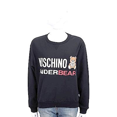 MOSCHINO Underbear 字母泰迪熊寶寶黑色棉質運動休閒套裝