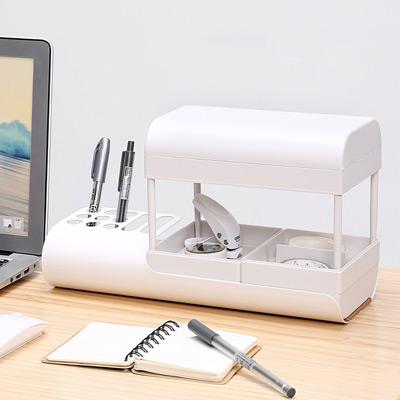 極簡主張-文創多功能文具收納盒(筆架)