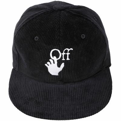 Off-White Logo 徽標棉絨棒球帽(黑色)