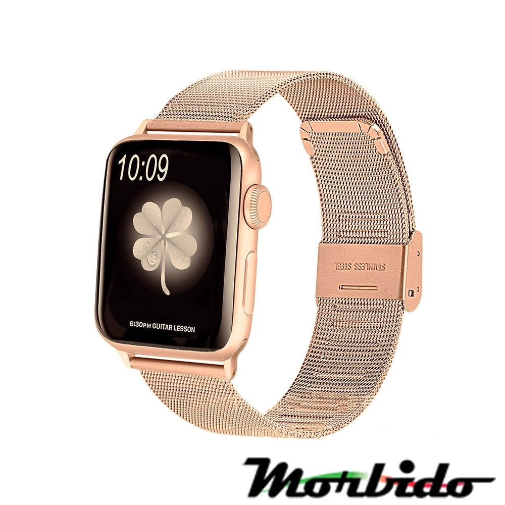 Morbido蒙彼多 Apple Watch 40mm不鏽鋼編織卡扣式錶帶