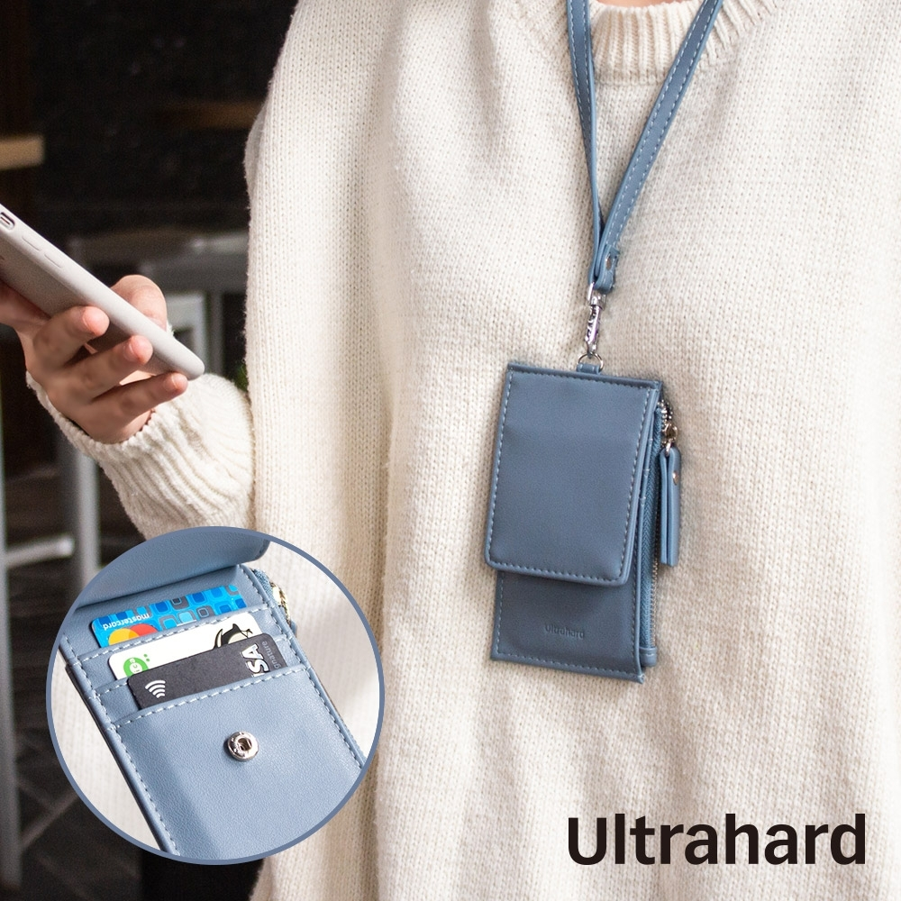 Ultrahard Charisma 皮革證件套(藍)