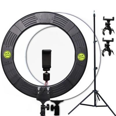 YADATEK 14吋可調色溫超薄LED環形攝影燈(YR-600A)送240cm燈架三機位