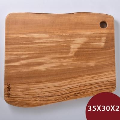 義大利 Arte in olivo 橄欖木Rustic砧板 35x30cm