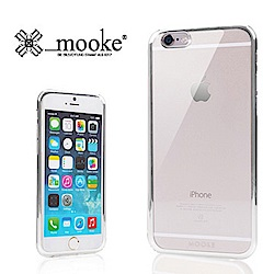Mooke iPhone 6 (4.7) 電鍍隱形保護殼-時尚銀