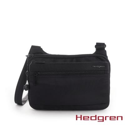 【Hedgren】INNER CITY貼身收納 側背包-墨黑