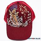 日本藍 BLUE WAY 精繡五輪系列鯉魚網帽(紅)