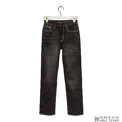 WHALE JEANS 男款風範沉穩漸層式刷色中腰直筒牛仔長褲