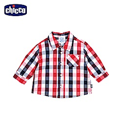 chicco-To Be Baby-紅藍格紋長袖襯衫