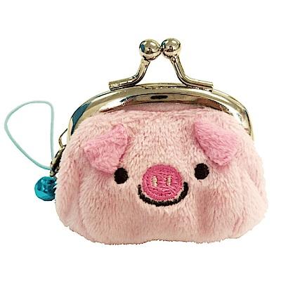 動物樂園迷你珠扣零錢包 。粉紅豬 UNIQUE