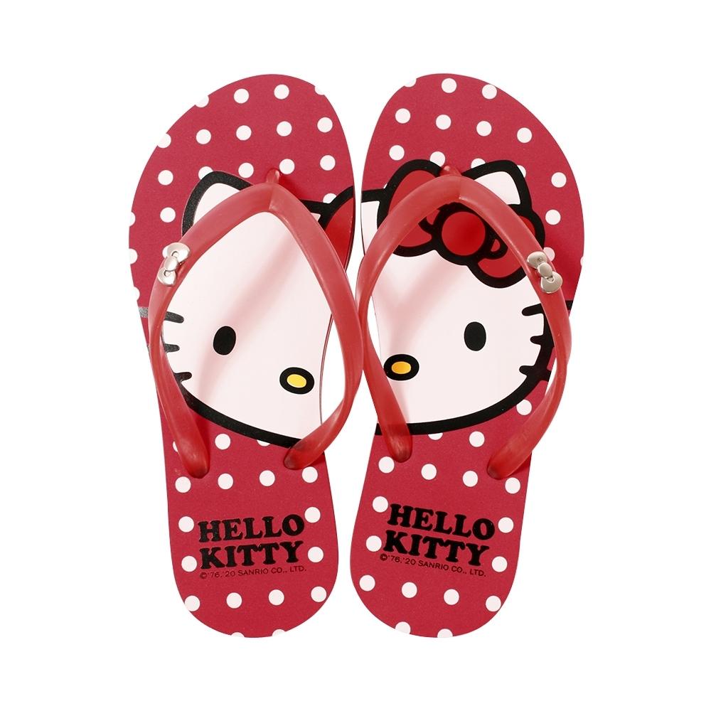魔法Baby台灣製Hello kitty正版夾腳拖鞋 人字拖sd7215
