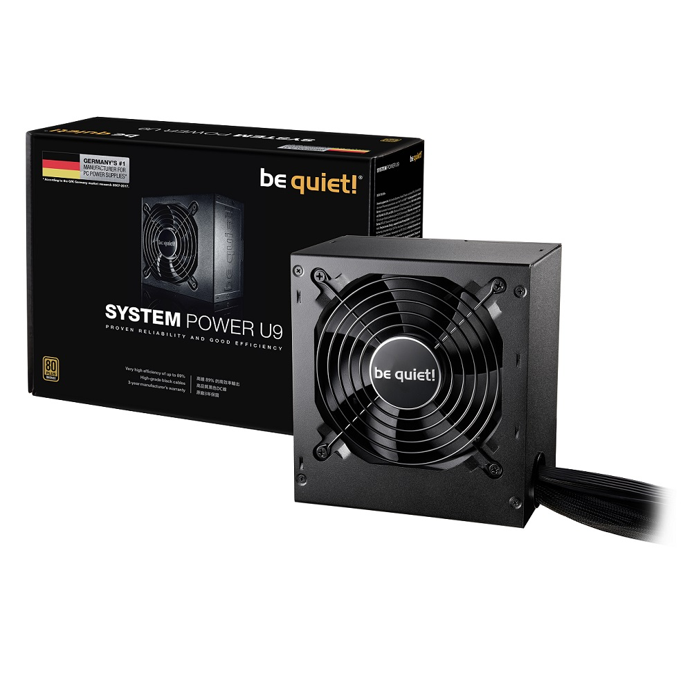 be quiet! BQT PSYSTEM POWER U9 500W 80+銅牌 電源供